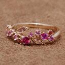 ルビー×ピンクサファイア×ダイヤモンドリング「ローズ」現品はK18ピンクゴールド サイズ11号/K18イエローゴールド…