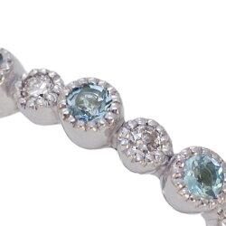 アクアマリン×ダイヤモンドミル打ちフルエタニティリング【送料無料】※サイズ直しは出来ません※リングサイズにより金額をご注文後、加算致します