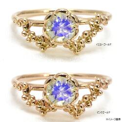 K10ラブラドライトリング「ミカエル」【送料無料】【jewelry_benebene】