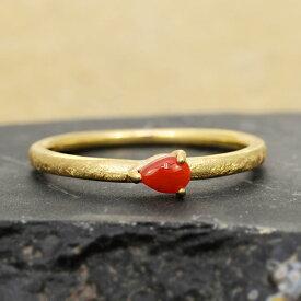 赤珊瑚テクスチャーリングテクスチャーをお選び頂けますjewelry_benebene 誕生石 3月 クリスマス プレゼント