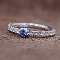 数量限定!ベニトアイト×ダイヤモンドリング「イタリアン」※現品は#11(サイズ直し応相談)K18WGです