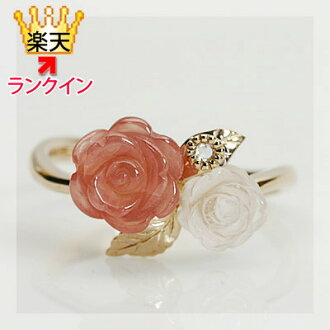 "Warehouse ""rose garden"" incarose x Rose Quartz / rose cut diamond ring"
