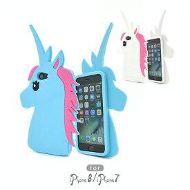 100db1cbc2 Apple iPhone8 iPhone7 ユニコーン スマホケース シリコン ソフト スマホカバー 幻の一角獣 動物 アニマル 伝説 ファンタジー  アップル