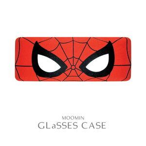メガネケース クリーナークロス付 スパイダーマン フェイス マーベル MARVEL アメコミ ヒーロー 映画 キャラクター サングラス 眼鏡 ハードケース スクエアポーチ ボックスポーチ ハードタイ