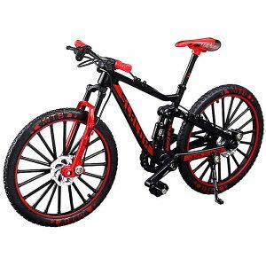 送料無料 自転車 おもちゃ MTB マウンテンバイク 模型 ダイキャスト 1/10 (ブラック/レッド) バイシクル 自転車模型 自転車ミニチュア 自転車玩具 ダイキャストバイクモデル 雑貨 ギフト 自転