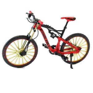 送料無料 自転車 おもちゃ MTB ダブルサス マウンテンバイク 模型 ダイキャスト 1/10 (レッド) 自転車模型 自転車ミニチュア 自転車玩具 ダイキャストバイクモデル 雑貨 ギフト 自転車好き プ