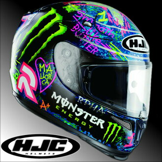To the HJC RPHA10 graffiti Hor Lorenzo replica full face helmet RS Taichi HJH067