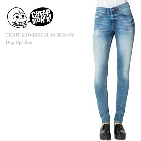 Cheap Monday(チープマンデー)TIGHT MID RISE SLIM Dug Up Blueスキニー/デニム