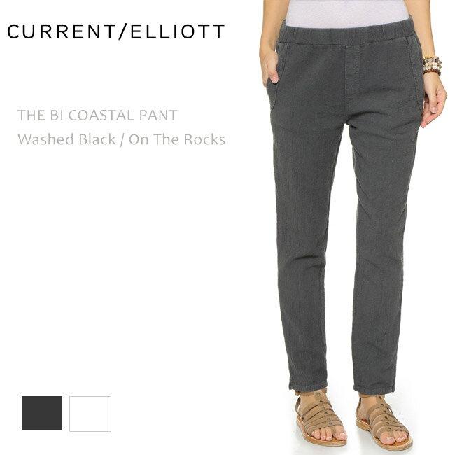 【SALE】CURRENT ELLIOTT(カレントエリオット)THE BI COASTAL PANT Washed Black/On The Rocks【送料無料】スキニー/リラックスパンツ