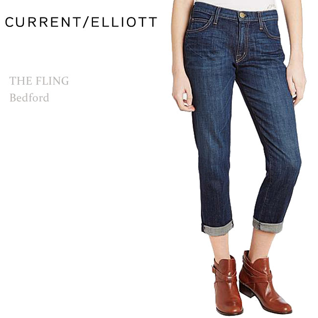 【SALE】Current Elliott(カレントエリオット)THE FLING Bedfordボーイフレンドデニム/リラックスデニム