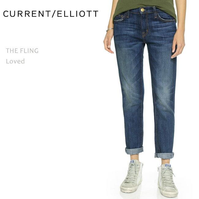CURRENT ELLIOTT(カレントエリオット)THE FLING Loved【送料無料】ボーイフレンド/ストレート/デニム/ルーズフィット/ロールアップ