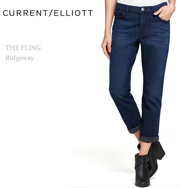 【SALE】Current Elliott(カレントエリオット)THE FLING Ridgewayスリムボーフレンド/ボーイフレンド