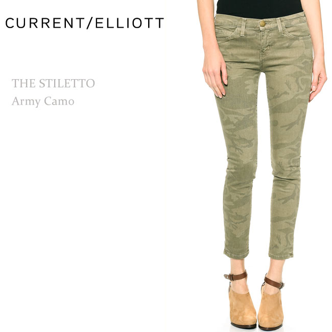 【SALE】Current Elliott(カレントエリオット)THE STILETTO Army Camo【送料無料】クロップスキニー/スキニー/プリント