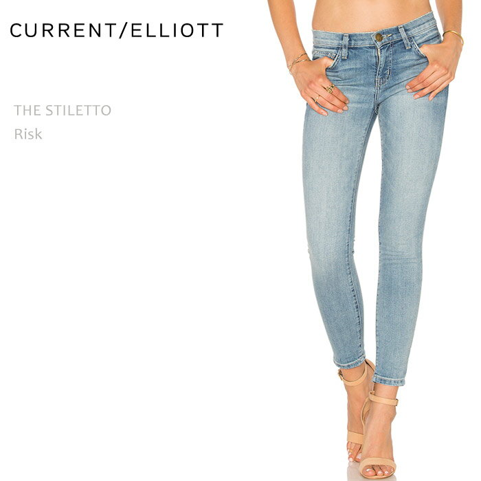 【SALE】CURRENT ELLIOTT(カレントエリオット)THE STILETTO Riskスキニー/クロップド/デニム