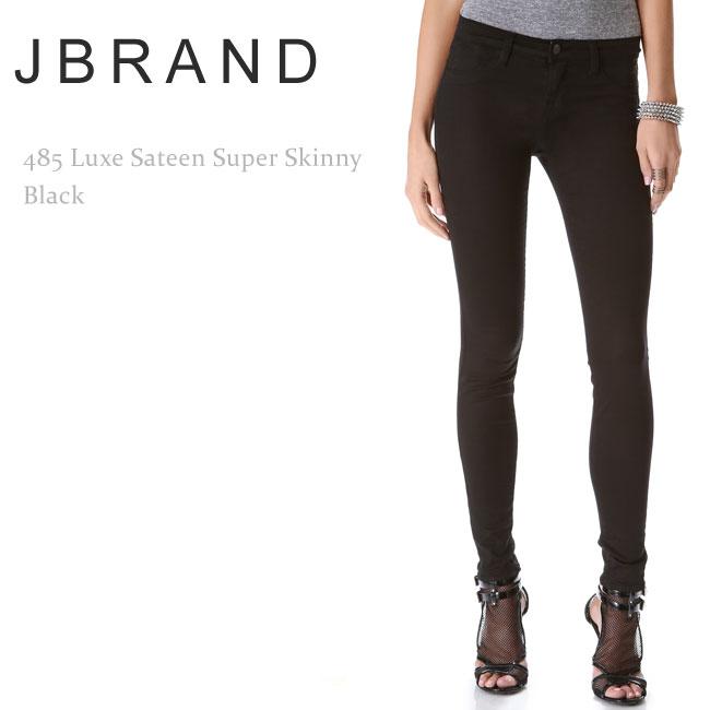 【再入荷】J Brand(ジェイブランド・ジェーブランド)485 Mid-Rise Super Skinny Blackスキニー/カラーデニム/ブラックデニム