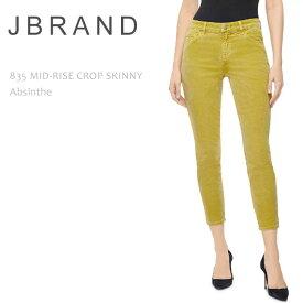 ≪New≫J Brand(ジェイブランド・ジェーブランド)835 MID RISE CROP SKINNY Absinthe ミッドライズ スキニー クロップドスキニー コーデュロイ