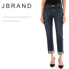 ≪New≫J Brand(ジェイブランド・ジェーブランド)JOHNNY MID RISE BOY FIT Cosmic Destructボーイフレンドデニム リラックスフィット ストレートデニム ルーズデニム