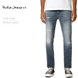 NUDIE JEANS ヌーディージーンズ THIN FINN Broken Lightsヌーディージーンズ シンフィン メンズデニム ダメージデニム ジーンズ タイトスキニー nudie jeans co