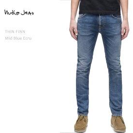 【SALE】 NUDIE JEANS ヌーディージーンズ THIN FINN Mid Blue Ecruヌーディージーンズ シンフィン メンズデニム ジーンズ ストレートデニム ボトムス nudie jeans co