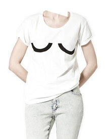 "【SALE】Cheap Monday(チープマンデー) Carolina Printed Tee ""UU"" White"