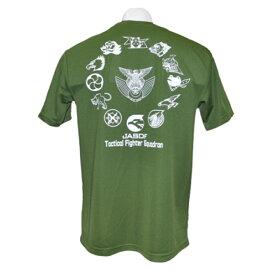 自衛隊グッズ Tシャツ 航空自衛隊 戦闘機部隊 ロゴマーク オリーブ色