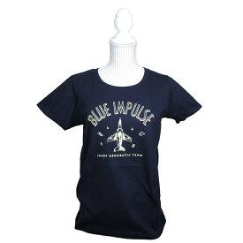 自衛隊グッズ ブルーインパルス Tシャツ レディス ネイビー