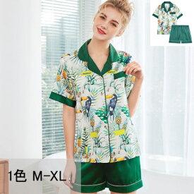 ルームウェア パジャマ レディース かわいい 春夏 前開き 2点セット パジャマ 半袖 パンツ ショートパンツ パジャマ リボン レディース 女の子 大きいサイズ M L XL ルームウエア 部屋着 パジャマ 可愛い春夏 前開き 半袖 パジャマ