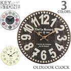 キーストーン【KEYSTONE】オールドルックウォールクロックOLDLOOKWALLCLOCK時計掛け時計ヴィンテージおしゃれ【あす楽】アンソロポロジー風