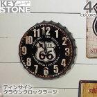 キーストーン【KEYSTONE】ティンサインクラウンクロックラージ時計掛け時計置き時計ヴィンテージレトロおしゃれTISICL【あす楽】アンソロポロジー風