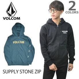 ボルコム 【VOLCOM】 SUPPLY STONE ZIP A4831804 メンズ ジップフード パーカー フード ストーン ウーブンロゴラベル 長袖 トップス 裏起毛 人気 【あす楽】【送料無料】