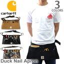 カーハート【carhartt】A09 DUCK NAIL APRON ダックネイルエプロンバッグ BLK/BRN/CAMO エプロン ポケット 大工 作業…