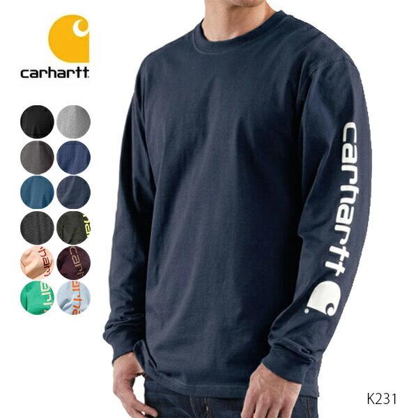 カーハート【carhartt】K231 メンズ トップス ロンT Long Sleeve Graphic Logo T-Shirt ブルー チャコール ネイビー アッシュ レッド ブラック クルーネック 長袖Tシャツ 【あす楽】メール便可
