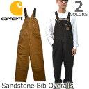 カーハート【carhartt】R06 SANDSTONE BIB OVERALL ブラウン/ダークブラウン オーバーオール サロペット ユニフォー…