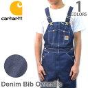 カーハート【carhartt】R08 DENIM BIB OVERALL デニム ビブオーバーオール オーバーオール サロペット ユニフォーム …