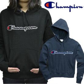 チャンピオン【Champion】 GF757Y07479 Women's Reverse Weave Pullover Hood Chenille Logo レディース トップス プルオーバー パーカー フード 長袖 ロゴ ベーシック 裏起毛 USA規格 【あす楽】