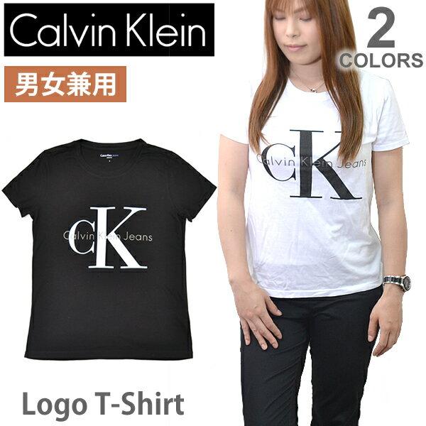 カルバン・クライン ジーンズ【Calvin klein Jeans】レディース メンズ ロゴ Tシャツ 半袖 42MK976 トップス 人気 Logo T 定番 WHITE BLACK【あす楽】