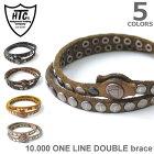 ハリウッドトレーディングカンパニー【HTC(HollywoodTradingCompany)】10.000ONELINEDOUBLEbrace全6color16WHTBR0032重レザーブレスレットヴィンテージハンドメイドスタッズメンズレディースユニセックスギフト