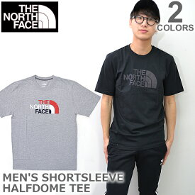 ザ・ノース・フェイス【THE NORTH FACE】Men's SHORT SLEEVE HARFDOME TEE NF0A3RUL STANDARD FIT Tシャツ 半袖 メンズ 人気 Tシャツ アウトドア LIGHT GREY HEATHER/BLACK【あす楽】