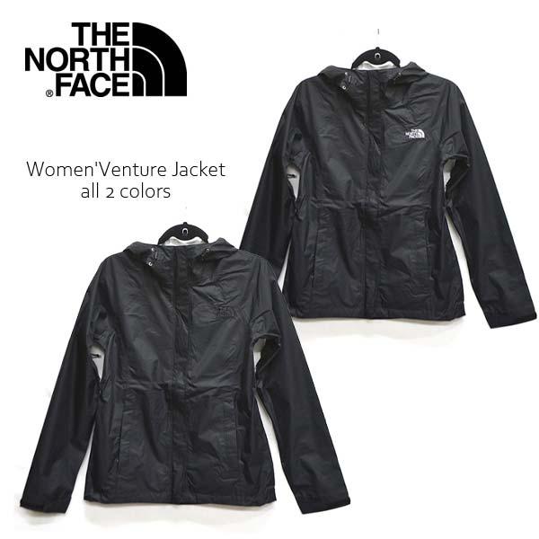 ザ・ノース・フェイス【THE NORTH FACE】Women' Venture Jacket NF00A8AS ブルゾン ベンチャージャケット ナイロンジャケット JACKET アウター レディース 人気 長袖 フード アウトドア BLACK US規格【あす楽】【送料無料】