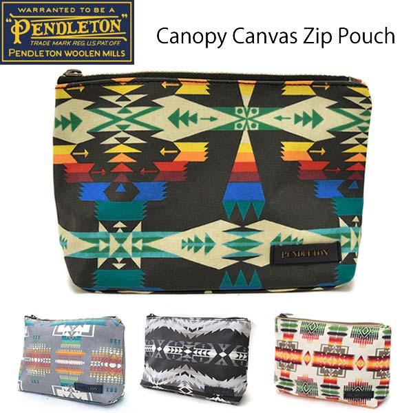 ペンドルトン【PENDLETON】キャノピーキャンバスジップポーチ GF408 Canopy Canvas Zip Pouch ネイティブ柄 トラベル ポーチ 小物入れ 旅行 ペンデルトン POUCH【あす楽】