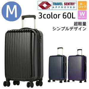 スーツケース Mサイズ 60L キャリーケース トランク ビジネスバッグ 営業 旅行 出張 長期旅行 ビジネス 海外 おしゃれ 女性 メンズ 頑丈 軽量 撥水 クール シンプル 3泊 4泊 5泊 大容量 TSAロック
