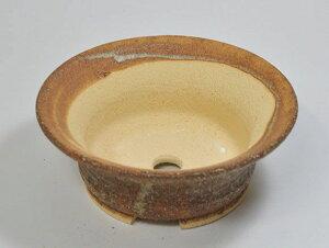 【信楽焼】6号鉢 つづみ型【陶器鉢 盆栽鉢 】