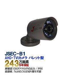 TVI/AHD/CVI/SD オールインワン 防犯カメラ JSEC-B1【あす楽対応】