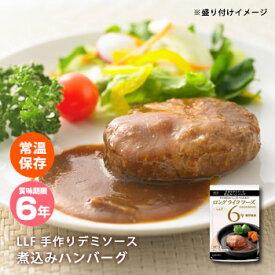 おいしい非常食 LLF食品 手作りデミソース煮込みハンバーグ100g(防災グッズ 6年保存 ロングライフフーズ 肉 美味しい)【bousai_d19】