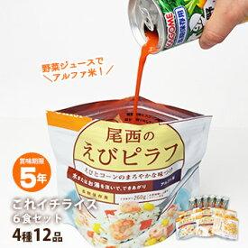 非常食これイチライス6食セット[防災館オリジナル](これいち アルファ米 アルファー米 保存食セット 防災セット 備蓄)