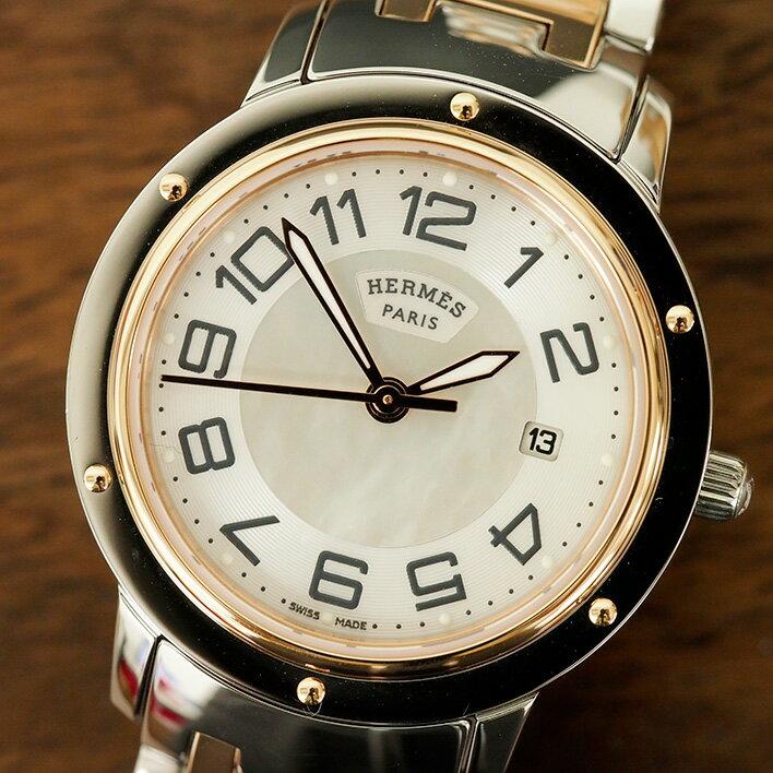 HERMES エルメス クリッパークラシック(シェル) Cp1.321 2775638 【中古】 腕時計