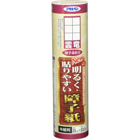 【あす楽対応】アサヒペンNEW明るく貼りやすい障子紙25CMX22.5M9112雲竜