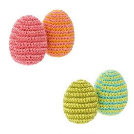 丁寧に編み上げたおもちゃ FAD plus ファッドプラス ニット・トイ エッグス 2個セット 全2種【犬/おもちゃ/歯磨き/】