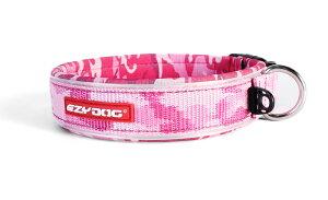 [メール便対応可][ウェットスーツ素材を使った肌に優しい首輪] EZY DOG イージードッグ ネオカラー XSサイズ ピンクカモ 新色【犬 首輪 小型犬 高品質】
