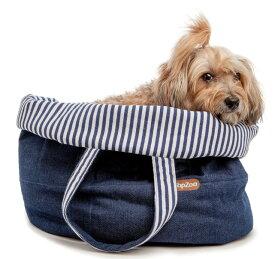 バッグとベッドが一緒に TopZoo ドゥドゥバッグオーバル セイラー【犬/キャリー/ベッド】